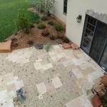 Overhead view of primitive patio