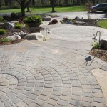 pavers, walkway, steps, front entry