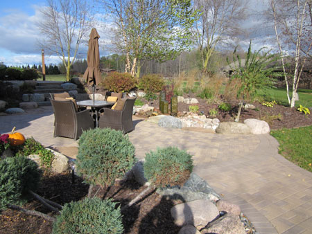 seating, plants, landscape