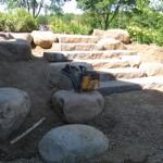 rock steps, rock path, walkway