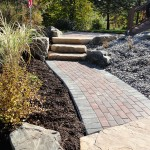 pavers, landscape, rocks