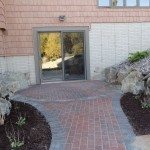 Paved walk to door