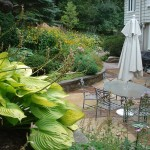 Large, dense plantings provide a private space