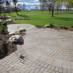 Series of arranged paver areas