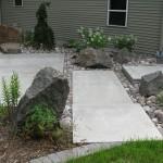 plants, rock, landscape, concrete, stone