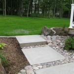 landscape, steps, concrete, stone