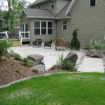 patio, landscape, concrete, pavers