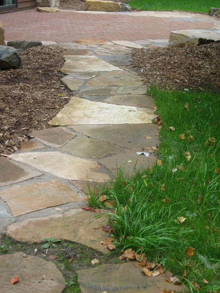 path, flagstone, rock