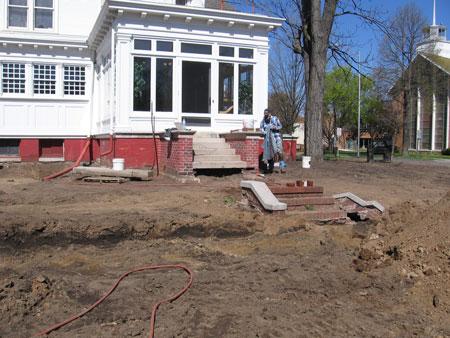 ground breaking, landscape, dirt work