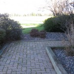 Paver path before