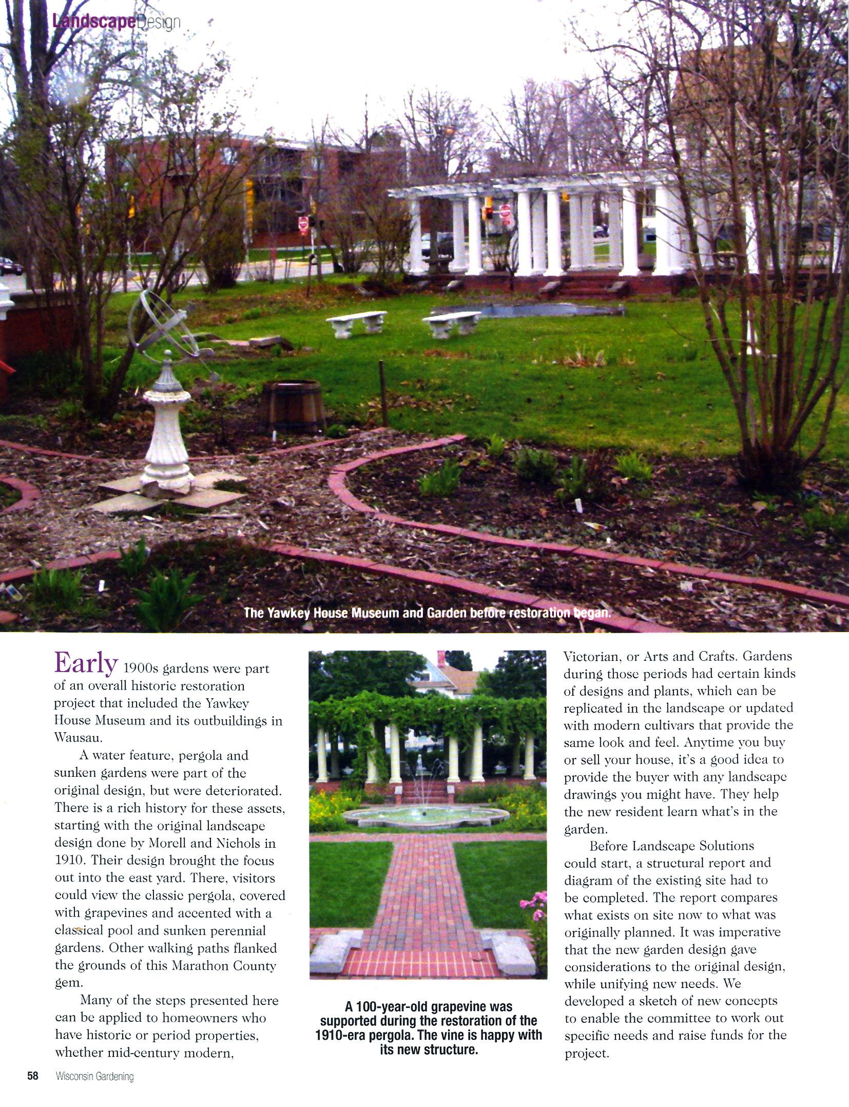 Original Plans Guide Landscape Restoration ...